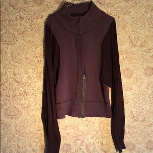 Free People Large purple sweater cardigans.